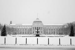 Wiesbadener Kurhaus im Schnee | Kurhaus Wiesbaden in the snow